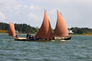 Sailing in Findhorn bay